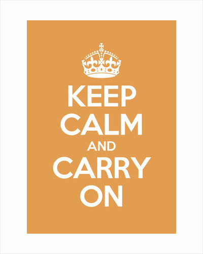 Keep Calm And Carry On Poster in Orangery by Magnolia Box
