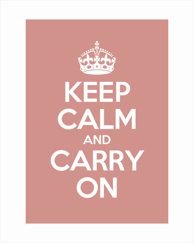 Keep Calm And Carry On Poster in Red Earth by Magnolia Box