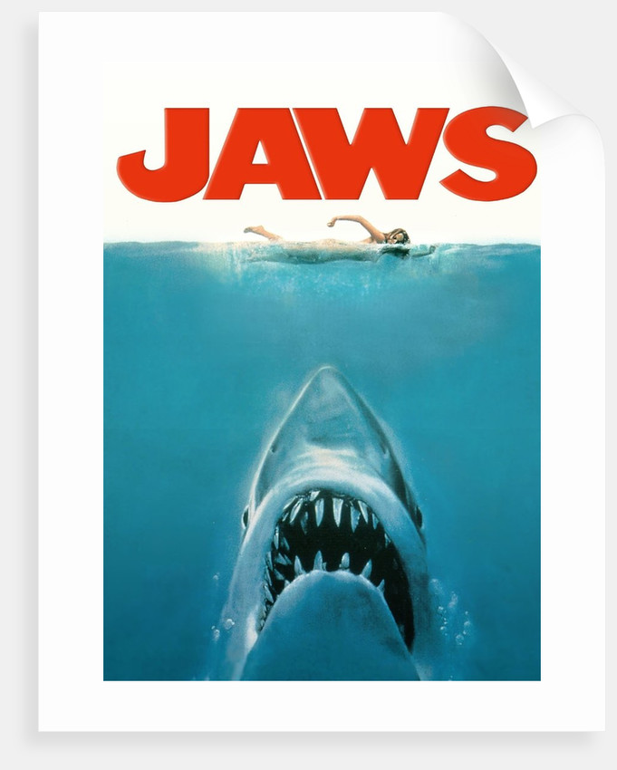 jaws movie poster original artwork posters amp prints by