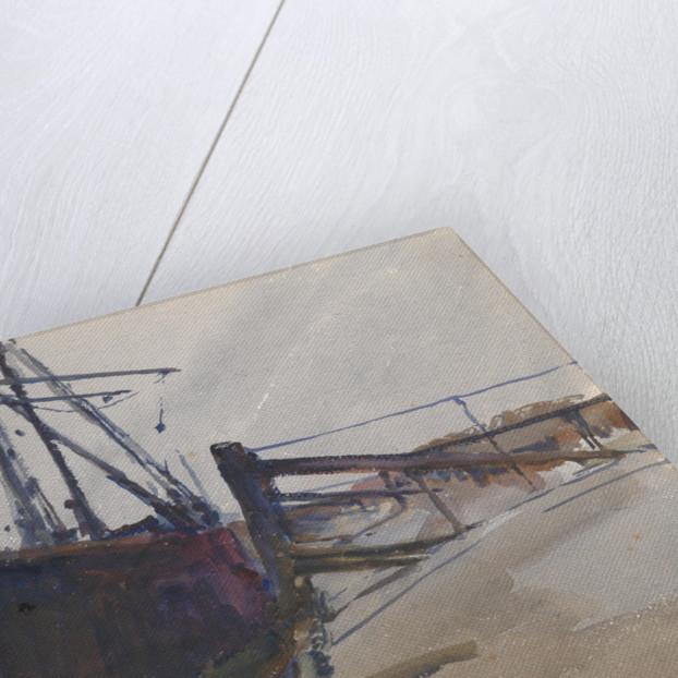 Sailing Craft Alongside by Archibald Knox