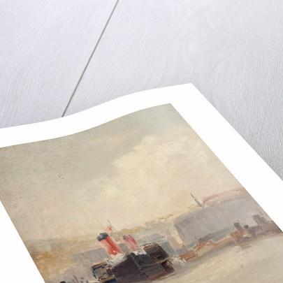 Red-funnelled steamer by John Miller Nicholson