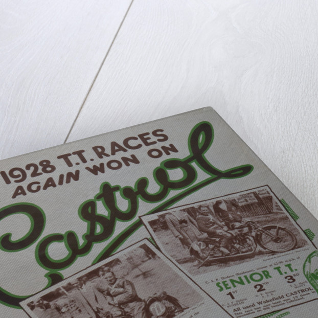 1928 TT Races again won on Castrol by Wakefield