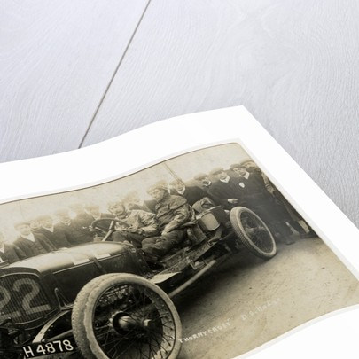 D.S. Hodge in a Thornycroft,1908 Tourist Trophy motorcar race by Anonymous
