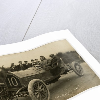 Ross Brown in a Vinot, 1908 Tourist Trophy motorcar race by Anonymous