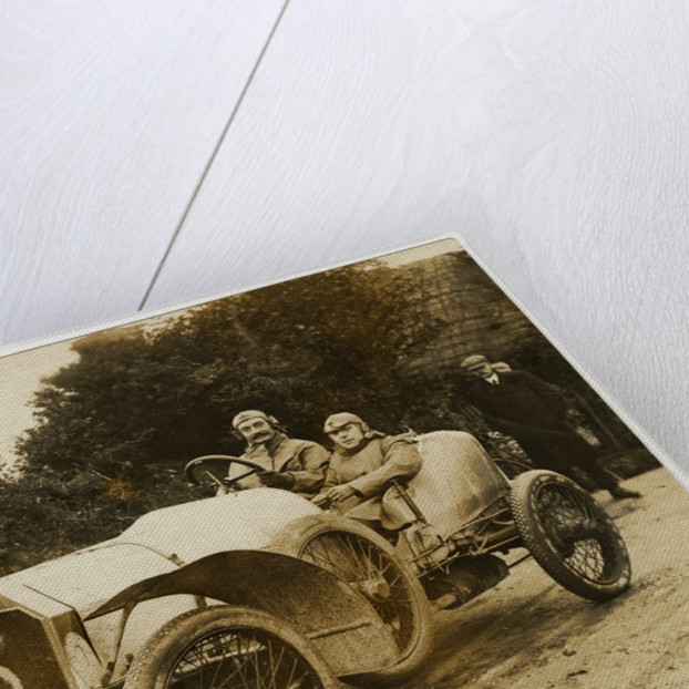E.J. Cyril-Roberts in an Arrol-Johnson, 1908 Tourist Trophy motorcar race by Anonymous