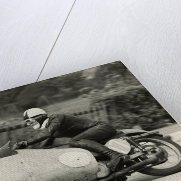 Cecil Sandford, riding as number 17, 1955 TT (Tourist Trophy) by T.M. Badger