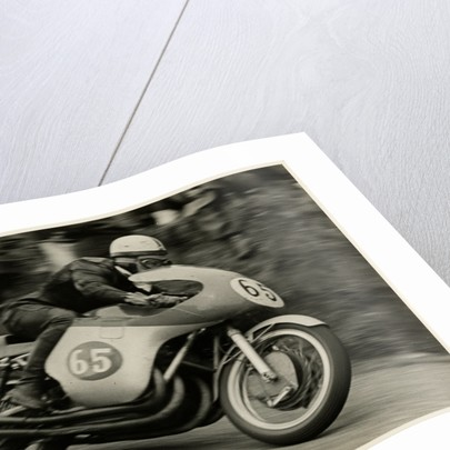 John Surtees, riding MV Agusta (number 65), 1958 Senior TT (Tourist Trophy) by T.M. Badger