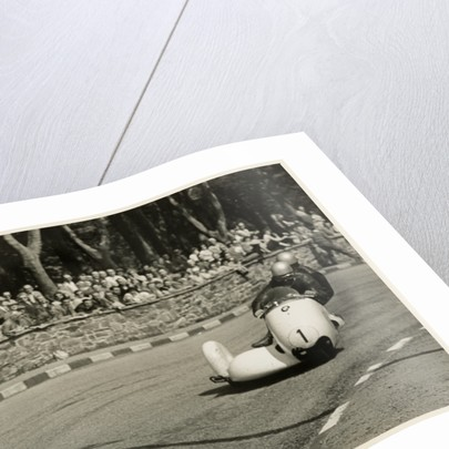 Walter Schneider aboard a BMW sidecar outfit (number 1), 1958 Sidecar TT (Tourist Trophy) by T.M. Badger