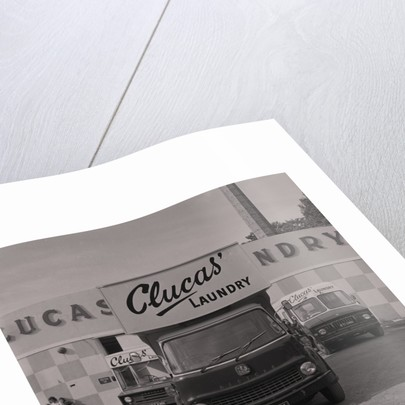 Clucas' laundry cleaners van by Manx Press Pictures