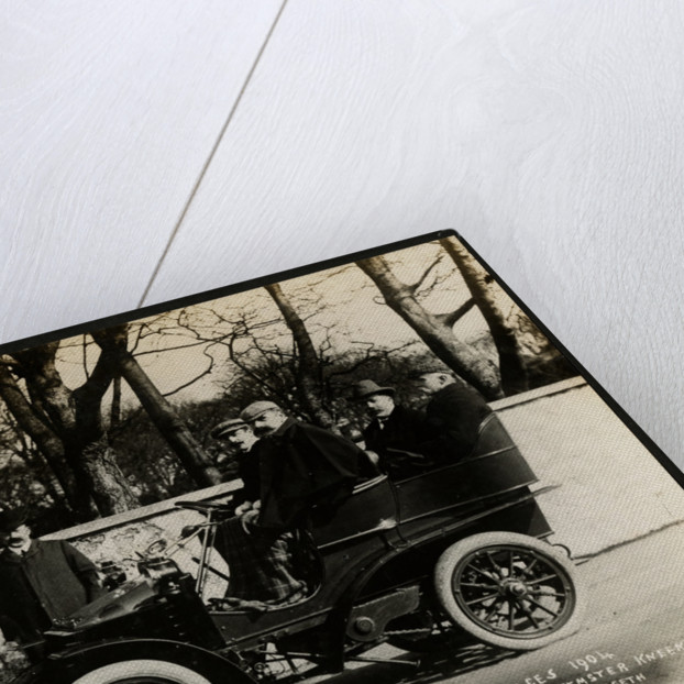 Sir Julian Orde's private motorcar at the first motorcar races 1904 by Anonymous