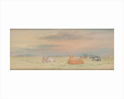 Cattle and landscape by John Miller Nicholson