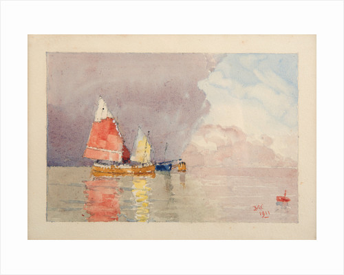 Fishing boats (Bragazzi) at moorings by John Miller Nicholson