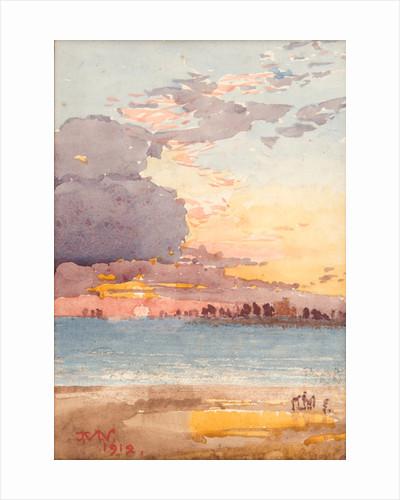 Sunrise, arrival of the herring fleet by John Miller Nicholson