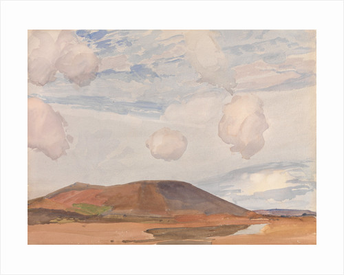 Slieu Whallian and Peel Hill by Archibald Knox