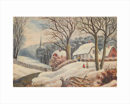 Snow scene, Isle of Man by Unknown