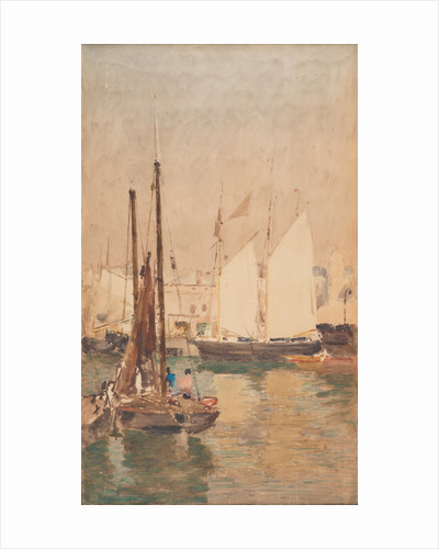 Fishing boats by John Miller Nicholson