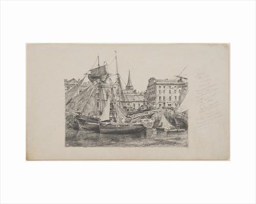 Boats along the North Quay by John Millar Nicholson