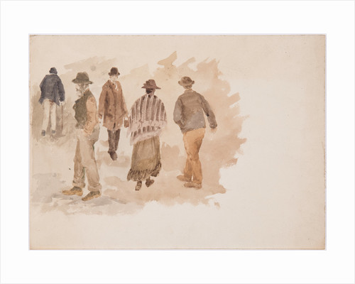 Study of five figures by John Miller Nicholson