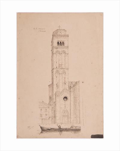 Campanile St Maria Dei Frari, Venice by John Miller Nicholson