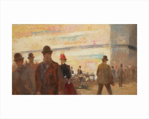 The old market place, Douglas by John Miller Nicholson