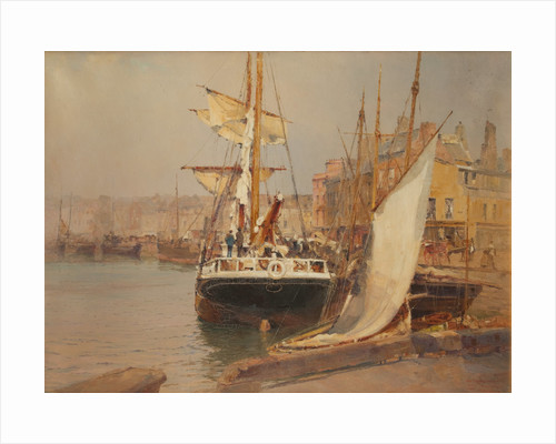 The Double Corner, North Quay by John Miller Nicholson