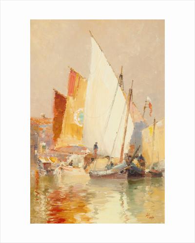 Fishing boats, Venice by John Miller Nicholson