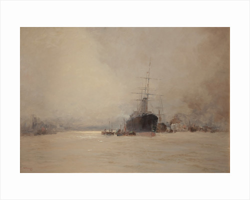 The River Mersey by John Miller Nicholson