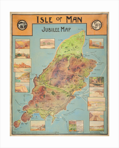 Jubilee map of the Isle of Man by William Hoggatt