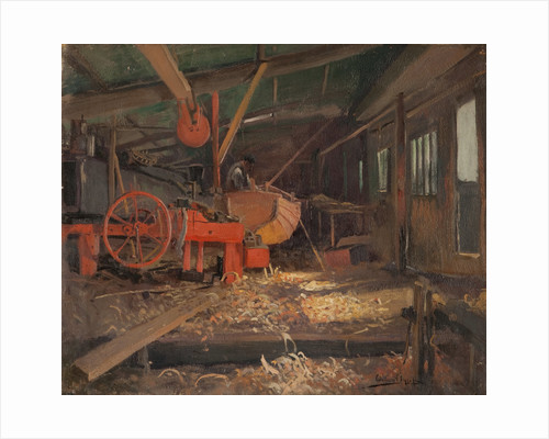 The boat builder's workshop by William Hoggatt