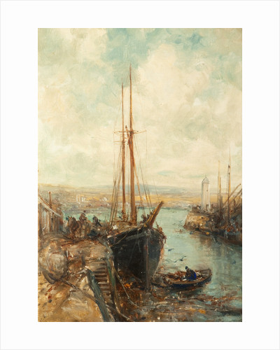 Port St Mary Harbour by William Webb
