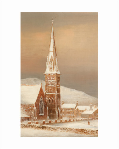 Peel church December 1890 by George Goodwin