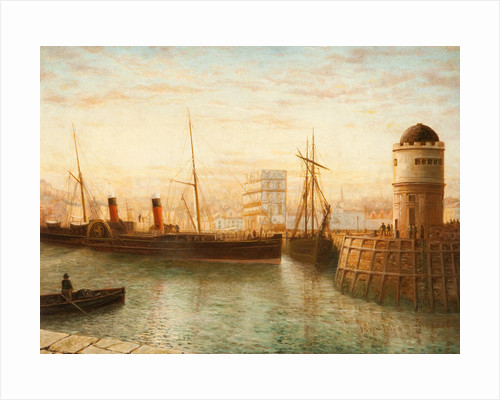 Turning the 'Snaefell' in the Harbour by John Champion Bradshaw