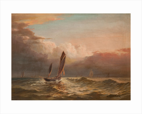 Fishing Boats at Sea by George Goodwin