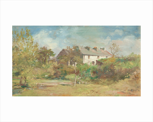 Cottages at Union Mills, Braddan by John Miller Nicholson