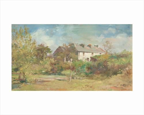 Cottages at Union Mills, Braddan by John Miller Nicholson