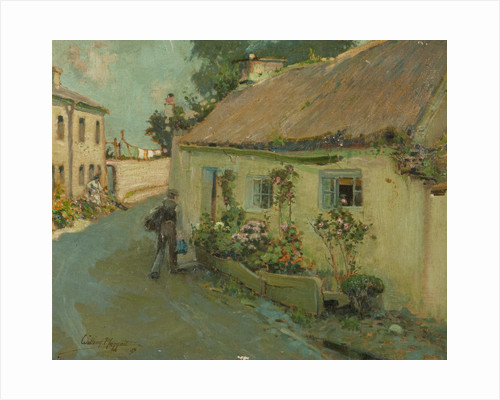 Thatched cottage by William Hoggatt