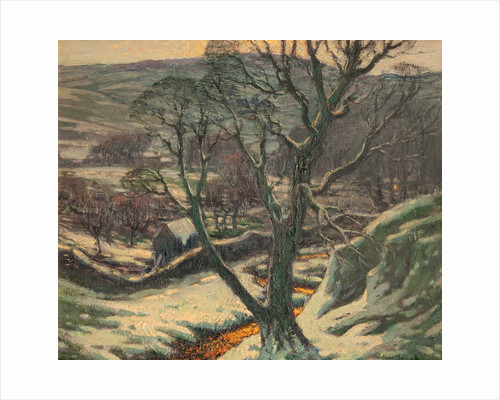 Tree and landscape in snow by William Hoggatt