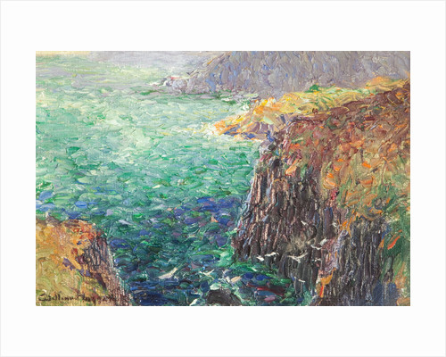 Sea and cliffs from Onchan Head by William Hoggatt