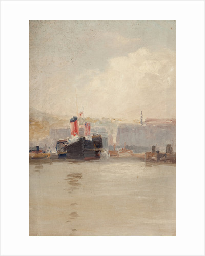 Red-funnelled steamer by John Miller Nicholson