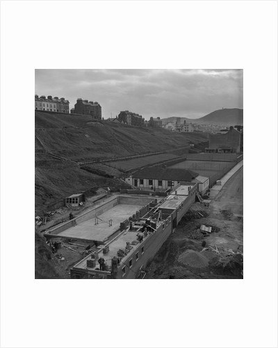 Peel swimming baths being built by Manx Press Pictures