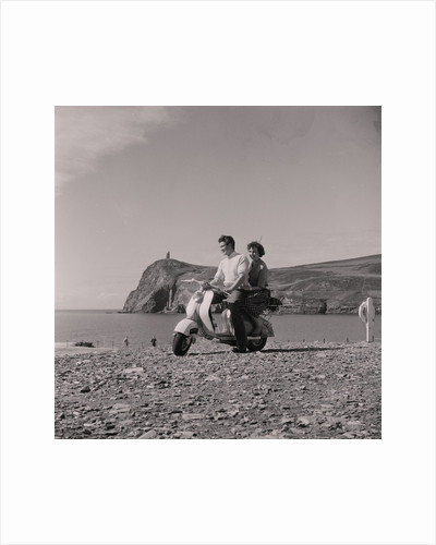 Lambretta hire scooters, Port Erin by Manx Press Pictures