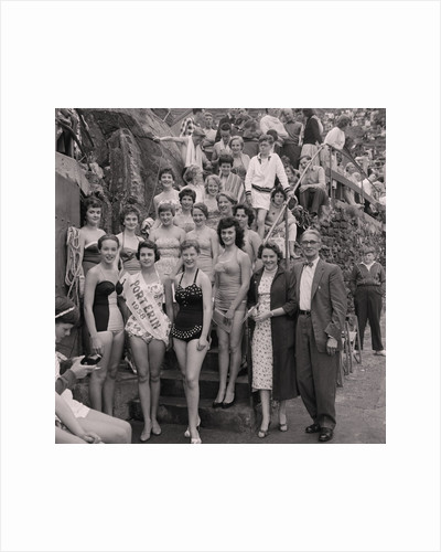 Port Erin Bathing Beauties by Manx Press Pictures