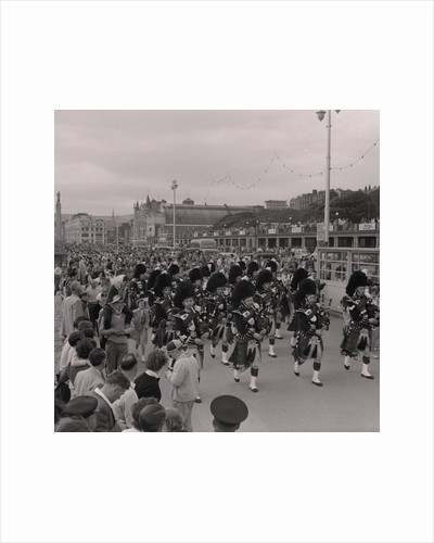 Pipe band, Douglas Promenade by Manx Press Pictures