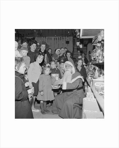 Father Christmas at the Co-op, Isle of Man by Manx Press Pictures