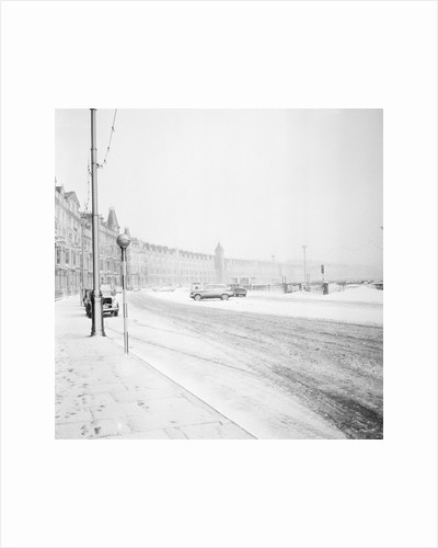 Snow on Douglas Promenade by Manx Press Pictures