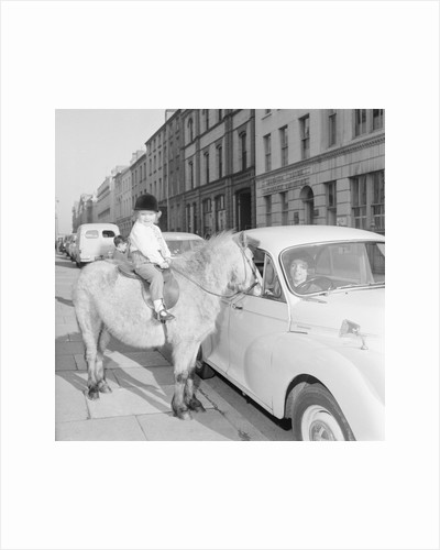 'Straight from the Horses Mouth', asdvertisement for Central Motors, Athol Street, Douglas by Manx Press Pictures