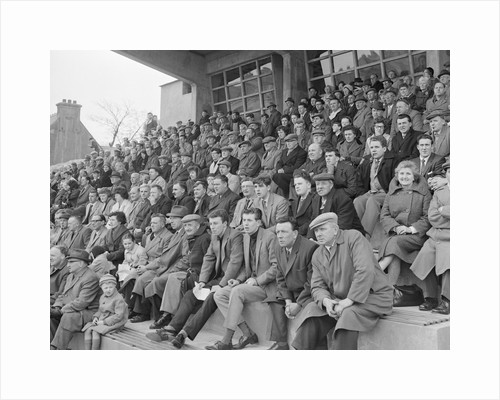 Crowd watching Good Friday football match, Isle of Man by Manx Press Pictures