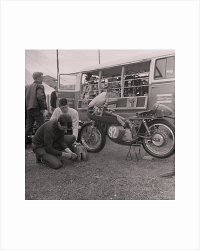 Atlas Copco in the pits, TT races by Manx Press Pictures