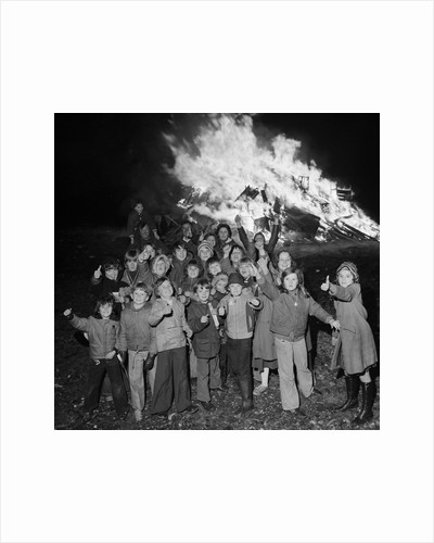 Bonfire on Promenade by Manx Press Pictures