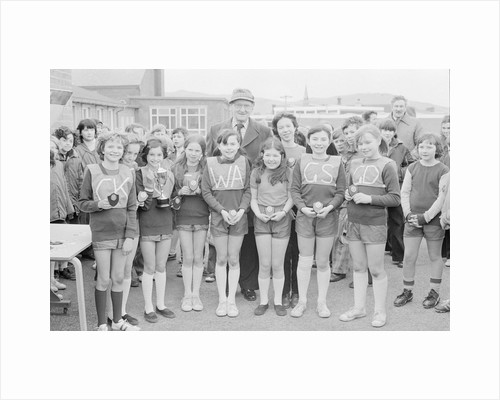 Girls netball competition, Peel School by Manx Press Pictures